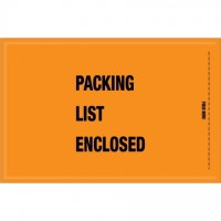 "Military ""Packing List Enclosed"" Envelopes, Orange, 5 1/4 x 8"""