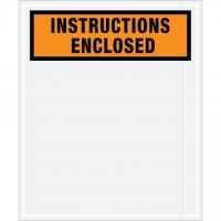 """Instructions Enclosed"" Envelopes, Orange, 12 x 10"""
