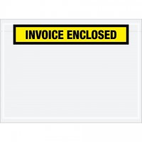 """Invoice Enclosed"" Envelopes, Yellow, 7 1/2 x 5 1/2"""