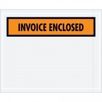 """Invoice Enclosed"" Envelopes, Orange, 4 1/2 x 5 1/2"""