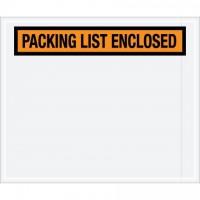 """Packing List Enclosed"" Envelopes, Orange, 10 x 12"", Panel Face"