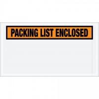 """Packing List Enclosed"" Envelopes, Orange, 5 1/2 x 10"", Panel Face"