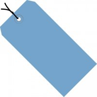 "Dark Blue Pre-strung Shipping Tags #1 - 2 3/4 x 1 3/8"""