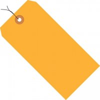Fluorescent Orange Pre-wired Shipping Tags #1 - 2 3/4 x 1 3/8""