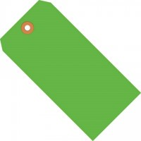 Fluorescent Green Shipping Tags #1 - 2 3/4 x 1 3/8""