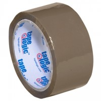"Tan Carton Sealing Tape, Industrial, 2"" x 55 yds., 1.8 Mil Thick"