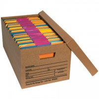 Economy File Storage Boxes with Lid, 24 x 12 x 10""