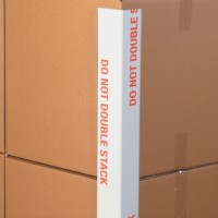 "Medium Duty"" Do Not Double Stack"" Edge Protectors - .160"" Thick, 3 x 3 x 36"" (Skid Lot)"