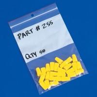 "Minigrip® Reclosable Poly Bags, 3 x 5"", 4 Mil, White Block"
