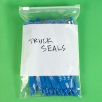 """Reclosable Poly Bags, 8 x 6"""", 3 Mil, White Block, Slide-Seal"""