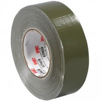 "3M 6969 Olive Green Duct Tape, 2"" x 60 yds., 10.7 Mil Thick"