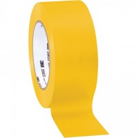 "3M 3903 Yellow Duct Tape, 2"" x 50 yds., 6.3 Mil Thick"