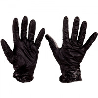 Best® Nighthawk™ Black Nitrile Gloves - 4 Mil - Large