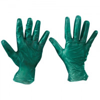 Powdered Vinyl Gloves - Green - 6.5 Mil - Small