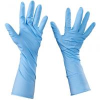 Blue Nitrile Gloves 6 Mil - Extended Cuff - Medium