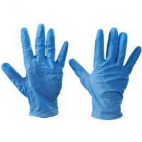 Powdered Vinyl Gloves - Blue - 5 Mil - Small
