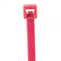 "Cable Ties, Fluorescent Pink Nylon - 5 1/2"", 40#"