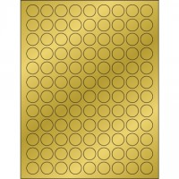 """Gold Foil Circle Laser Labels, 3/4"""""""
