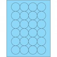 """Fluorescent Pastel Blue Circle Laser Labels, 1 2/3"""""""