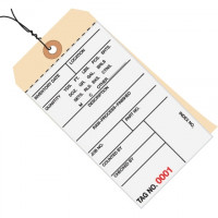 """Pre-Wired Inventory Tags - 2-Part Carbonless (5000-5499), 6 1/4 x 3 1/8"""""""