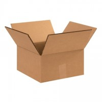 "Double Wall Corrugated Boxes, 10 x 10 x 6"", 48 ECT"
