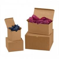 "Chipboard Boxes, Gift, Kraft, 7 x 7 x 7"""