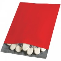Poly Mailers, Red, 10 x 13""
