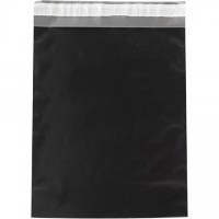Poly Mailers, Black, 12 x 15 1/2""