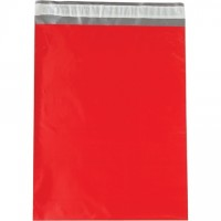 Poly Mailers, Red, 12 x 15 1/2""
