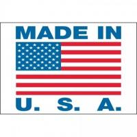 """"""" Made In U.S.A."""" Labels, 2 x 3"""""""