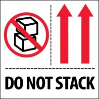 "International Safe Handling Labels -"" Do Not Stack"", 4 x 4"""