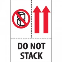"International Safe Handling Labels -"" Do Not Stack"", 4 x 6"""