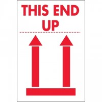 "International Safe Handling Labels -"" This End Up"", 2 x 3"""