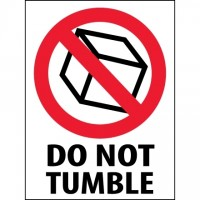 "International Safe Handling Labels -"" Do Not Tumble"", 3 x 4"""