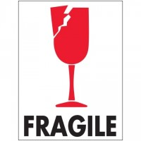 "International Safe Handling Labels -"" Fragile"", 3 x 4"""
