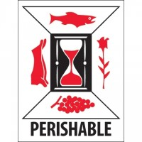"International Safe Handling Labels -"" Perishable"", 3 x 4"""