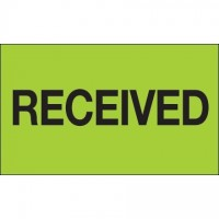 """ Received"" Green Labels, 3 x 5"""