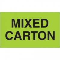 """ Mixed Carton"" Green Labels, 3 x 5"""