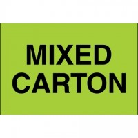 """ Mixed Carton"" Green Labels, 2 x 3"""