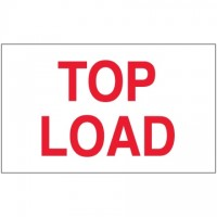 """ Top Load"" Labels, 3 x 5"""