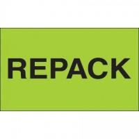 """ Repack"" Green Labels, 3 x 5"""