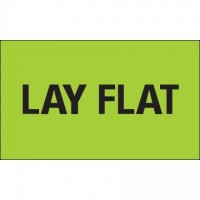 """ Lay Flat"" Green Labels, 3 x 5"""