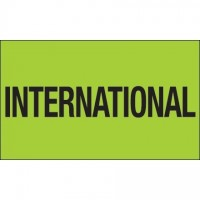 """ International"" Green Labels, 3 x 5"""