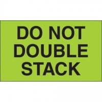 """ Do Not Double Stack"" Green Labels, 3 x 5"""
