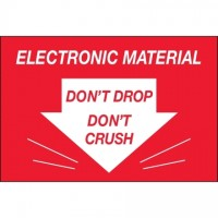 """ Don't Drop Don't Crush - Electronic Material"" Labels, 2 x 3"""