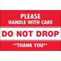 """ Do Not Drop"" Labels, 2 x 3"""