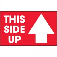 """ This Side Up"" Arrow Labels, 3 x 5"""