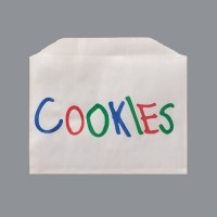 Printed Cookie Bags, 4.875 x 4""