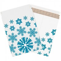 "Snowflake Print Flat Mailers, 9 3/4 x 12 1/4"""