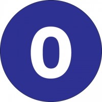 "Dark Blue Circle ""0"" Number Labels - 4"""